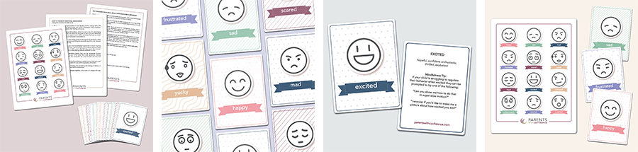 emotions flashcards for kids