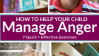 7 Activities to help a child manage anger