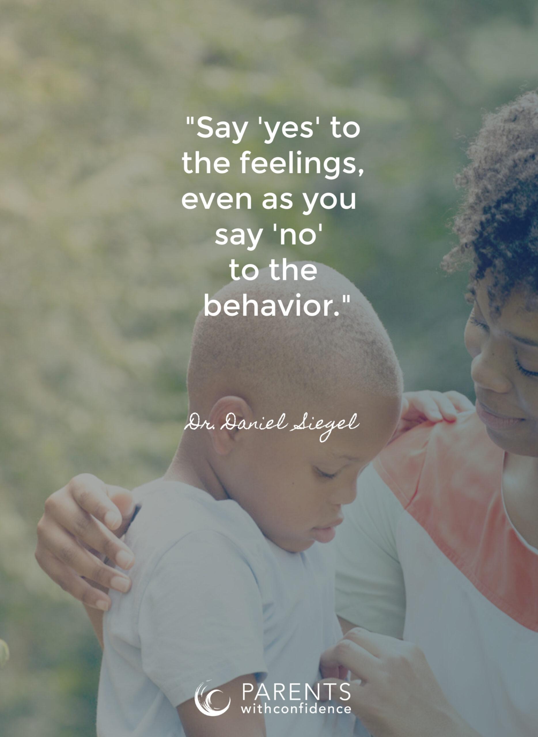 handle child's emotional outburst