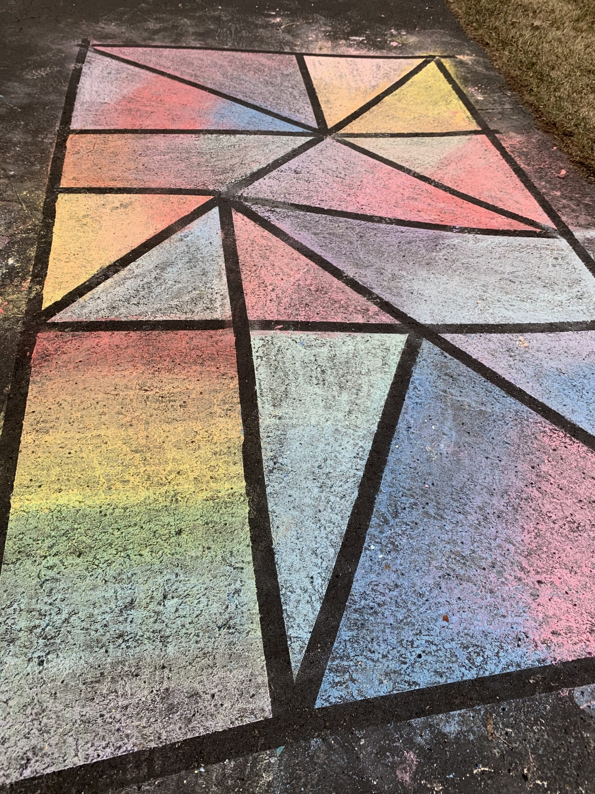 outdoor play for toddlers chalk art