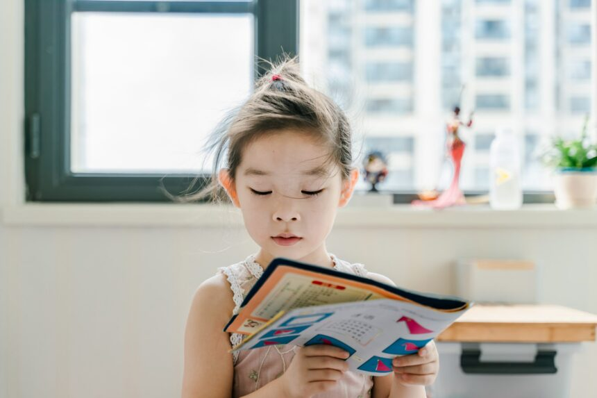 child reading mental health day
